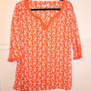Old navy 3/4 sleeve tunic shirt size M